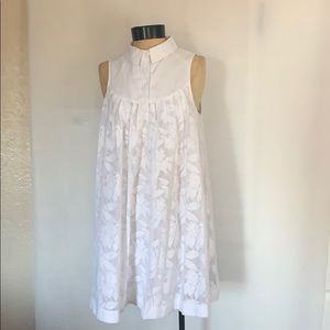 HD in Paris Anthropologie laced Poplin Swing Dress